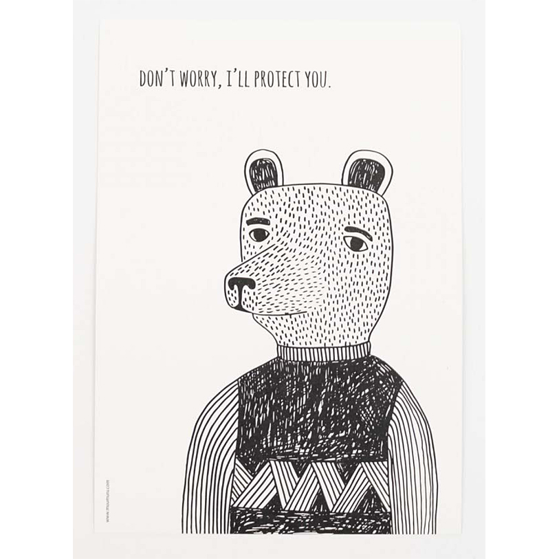 Bear with me-juliste